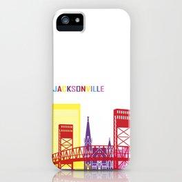 Jacksonville skyline pop iPhone Case