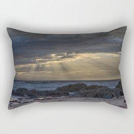 Sunset and God beams Rectangular Pillow