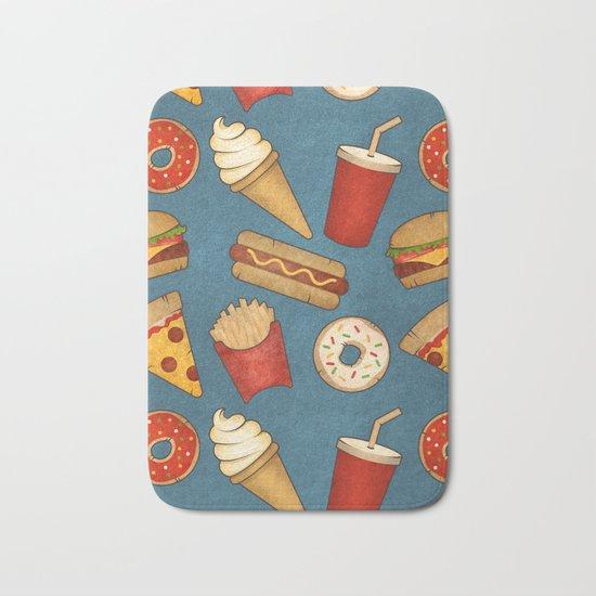 Fast Food Bath Mat