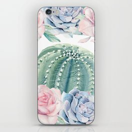 Cactus Rose Succulents Garden iPhone Skin