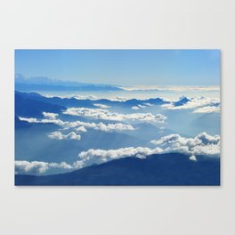 Mountains and Clouds in Nepal Canvas Print