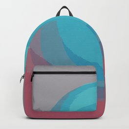 Pearl Lily Sky Blue Pink Gray Backpack