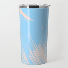 Paint Swipes Blue Raspberry and Sweet Peach Pink Travel Mug
