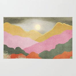 Colorful mountains Rug