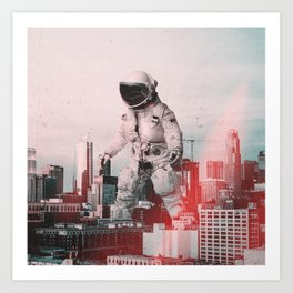 City Walk Art Print
