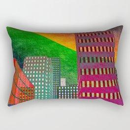 digicity orange curtain Rectangular Pillow