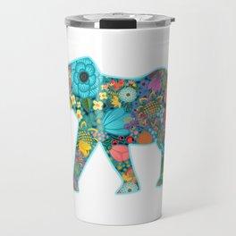 Floral Elephant - vivid Travel Mug