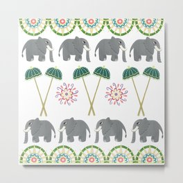 Elephant Parade  Metal Print