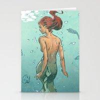 mermaid Stationery Cards featuring Mermaid by Calavera