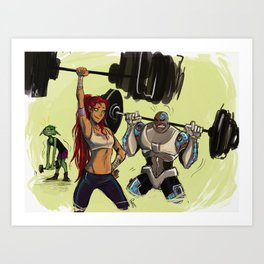 Gym buddies Art Print
