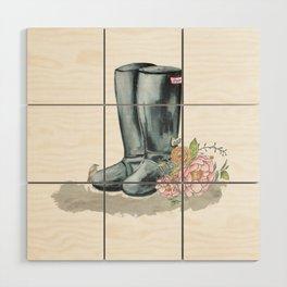 Spring Rain Boots Wood Wall Art