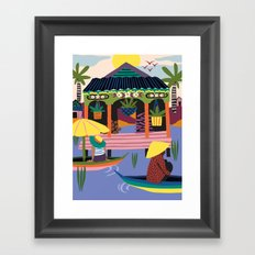 Water Village, Cambodia Framed Art Print