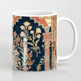 Kashan Poshti  Antique Central Persian Rug Print Coffee Mug