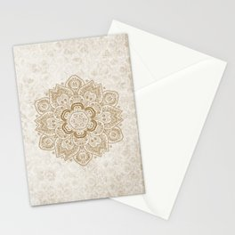 Mandala Temptation in Cream Stationery Cards