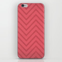 Garden Hat Chic: Pattern geometric in flamingo pink, hot pink zig zags iPhone Skin
