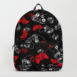 Video Game Red on Black Backpack