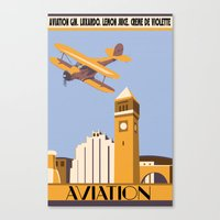 aviation Canvas Prints featuring Aviation by Pixel & Pint