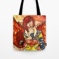 borderlands Tote Bags featuring Lilith from Borderlands by Jazmine Phillips