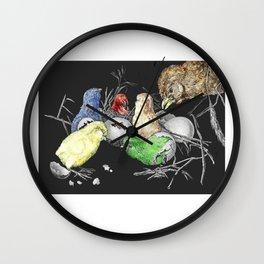 """L'éclosion des petits poussins"" / ""The hatching of little chicks"" Wall Clock"