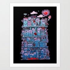 Happy City Art Print