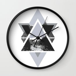 Landscape in Triangles Wall Clock