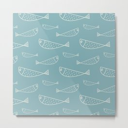 Cute outline colorful pattern Metal Print
