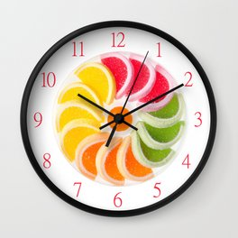 Plenty multicolored chewy gumdrops Wall Clock