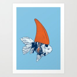 Big fish in a small pond Art Print