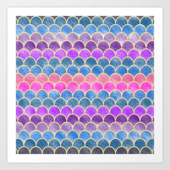 Lovely Pattern VI (Glitter Version) Art Print