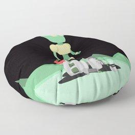 A Ghastly Crime Floor Pillow