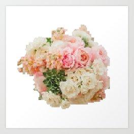 8 Bit Bouquet Art Print