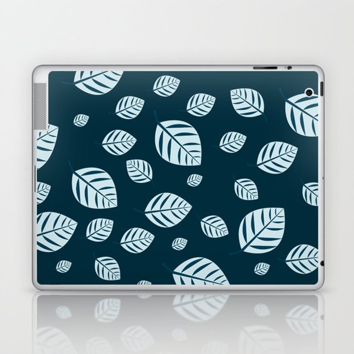 blue leafs Laptop & iPad Skin