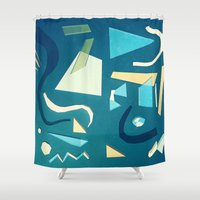 marine Shower Curtains featuring marine by Carlos Castro Perez