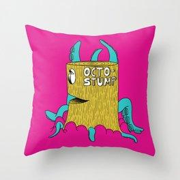 Octostump Throw Pillow
