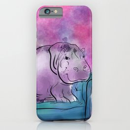animals in chairs #9 variations on a theme Hippo iPhone Case