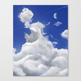Large Puffy Clouds Canvas Print
