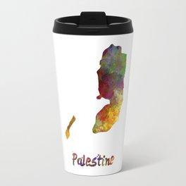 Palestine in watercolor Travel Mug