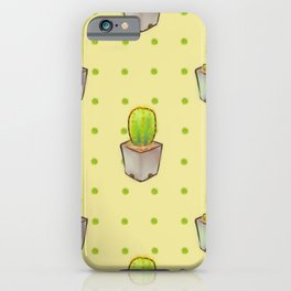 Small green cactus iPhone Case