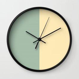 """Beige & Aguamarina Pastel pattern Marilyn"" Wall Clock"
