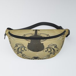 Wonderful violoin with elegant floral elements Fanny Pack