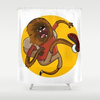 chewbacca Shower Curtains featuring Chewbacca traveler by Alex Fadeev