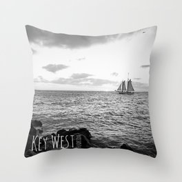 Southernmost Sunset Throw Pillow