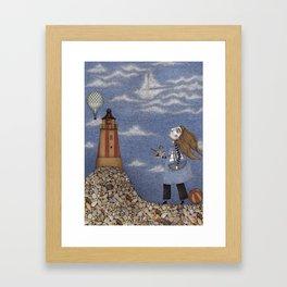 Ship in the Sky Framed Art Print