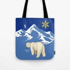 Welcome Home, my bear. Vintage Poster Decoration Tote Bag