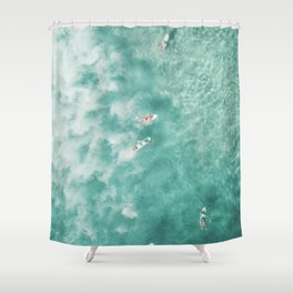 Surfing in the Ocean Shower Curtain