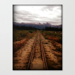 Yukon Railway Canvas Print