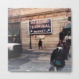 Philadelphia Reading Terminal Market Metal Print