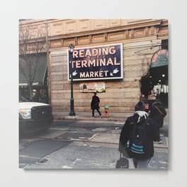 Philadelphia Reading Terminal Market Metal Print