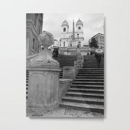Spanish Steps Metal Print