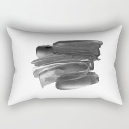 Lipstick Smudge black and white abstract painting poster design home wall art bedroom decor Rectangular Pillow